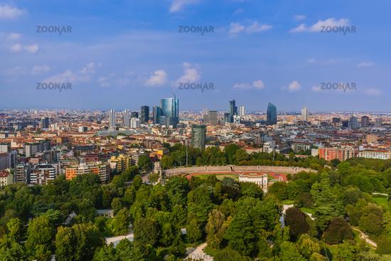 Cityscape Milan Italy