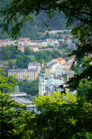 Karlovy Vary. View during the morning run