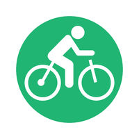 electric bicycle pictogram round