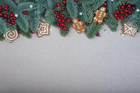 Christmas frame background