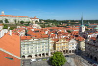 Aerial view over the city of Prague