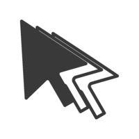 Mouse Cursor Trail Icon Vector