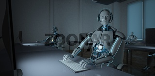 Humanoid Robot Callcenter Data