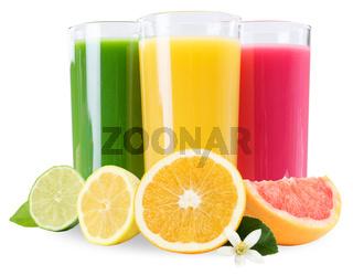 Saft Smoothie Smoothies im Glas Frucht Früchte Fruchtsaft Orangensaft isoliert freigestellt Freisteller