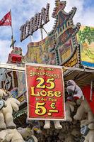 Lottery booth on a fair