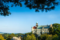 HRUBA SKALA, CZECH REPUBLIC - SEPTEMBER 18, 2012: Hruba Skala Castle on a clear beautiful day