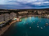 Aerial view, luxury marina Port Adriano, El Toro, Mallorca, Balearic Islands, Spain Spain