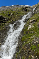 Waterfall in the Val de Bagnes, Valais, Switzerland