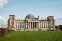 The Reichstag building, german parliament , Bundestag in Berlin