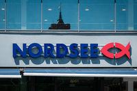 Nordsee brand logo on store facade in Berlin