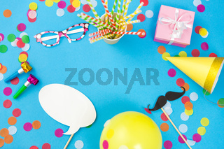 pink birthday gift and party props