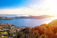 Cap Ferrat on French riviera coastline panoramic view