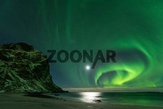 Lofoten Utakleiv Polarlicht