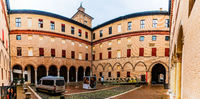 Este castle in center of Ferrara, northern Italy