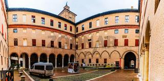 Este castle in center of Ferrara, northern Italy