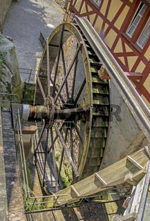 Mühlrad der Schlossmühle in Meersburg am Bodensee