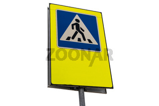 Traffic sign pedestrian crossing