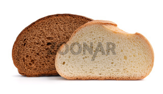 Slices of rye and wheat bread