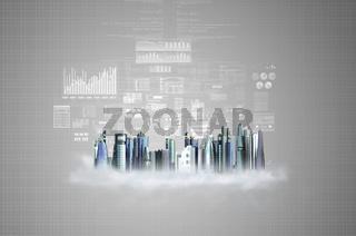 Virtual Futuristic City Offices
