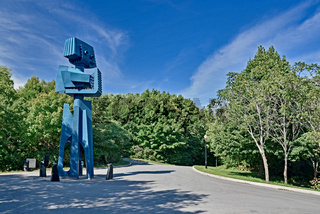 Giant robot sculpture of Expo '67