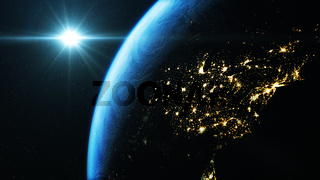 USA seen from space