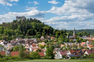 Schloss Lichtenberg im Odenwald. Fischbachtal, Hessen, Deutschland