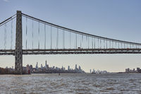The  George Washington Bridge and the New York Skyline