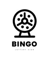 Lottery bingo with machine and lottery balls inside. vector illustration on white