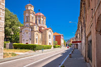Town of Knin and Orthodox Church street view