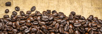dark French roast coffee beans