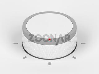 White plastic control knob