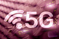 5G Network, 5G internet Connection Concept in digital background. Smart communication network concept