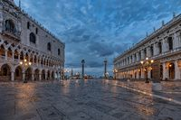 San Marco square in Venice, Italy at sunrise