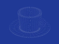 Coffee cup wireframe