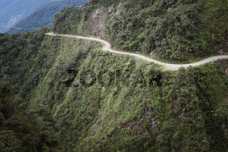The Death Road - the most dangerous road in the world, North Yungas, Bolivia.