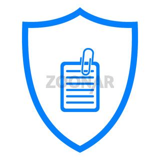 Dokument und Schild - Document and shield