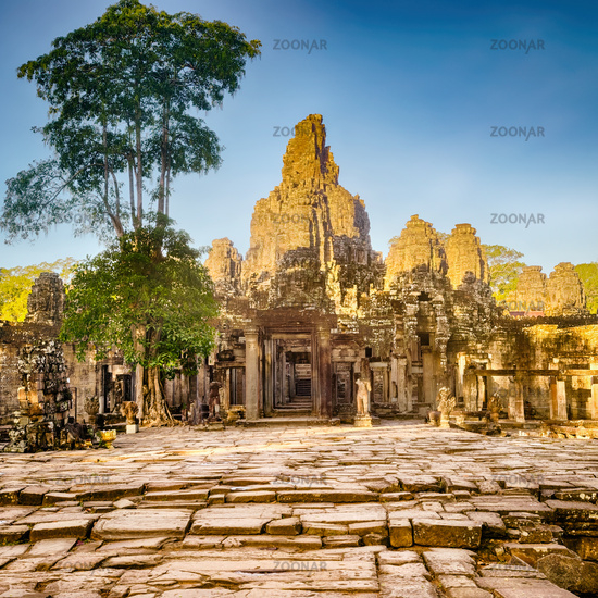 Bayon temple in Angkor Thom. Siem Reap. Cambodia
