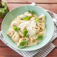 Tortellini in a creamy cheese sauce