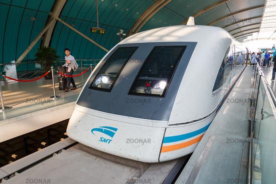 Shanghai Transrapid Maglev magnetic levitation train station in China