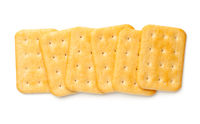 Cracker Biscuits Isolated On White Background