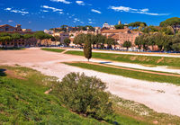 The Circus Maximus and ancient Rome landmarks view