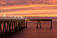 Fiery Sunset over Pacifica Municipal Pier.
