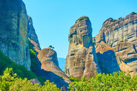 Landscape with cliffs in Meteora