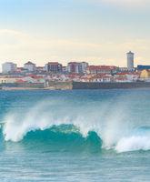 Cityscape  Peniche ocean town Portugal
