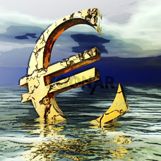 Digital Illustration of the Euro Crysis