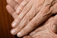 Man's hands detail