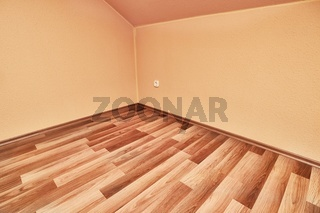 Parquet floor interior empty room corner