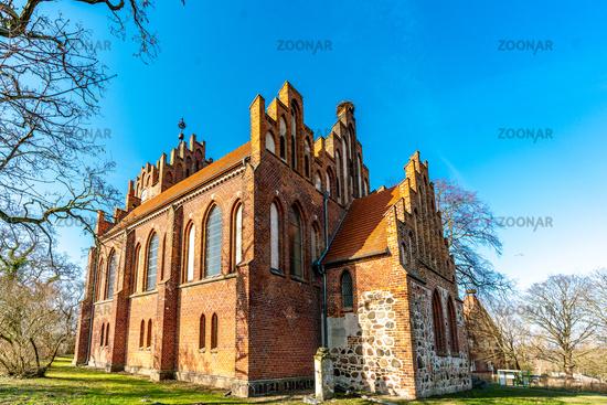 Neogothic church in Linum Brandenburg