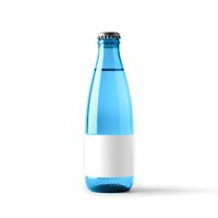 Colored blank bottle, mockup for beverages