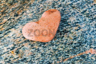 stone heart, heart-shaped sea stone